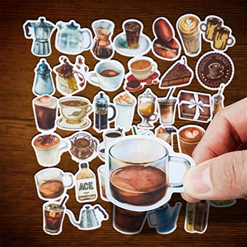 Vintage Dakblad Koffie Winkel Mini Stickers Cafe Cup Scrapbooking Stickers Voor Journal Planner Crafts Dagboek Notebook 40 stks