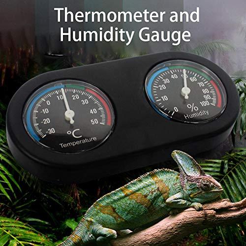 D.ragon Doppeldeck Hygrometer Thermometer Für Reptilienkasten Feuchtigkeitsmesser Steadfast