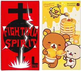リラックマ ラブラブホット 10個入 + FIGHTING SPIRIT (ファイティングスピリット) コンドーム Lサイズ 12個入