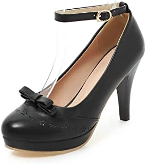 BalaMasa Womens APL12368 Pu Platform Heels