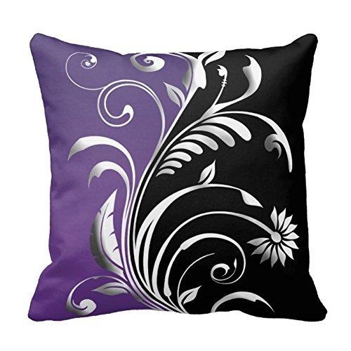 Nkaylockstore Prune Floral American Mojo Gh-494 Lin décoratif Taie d'oreiller Housse de coussin pour canapé Taie d'oreiller 45,7 x 45,7 cm