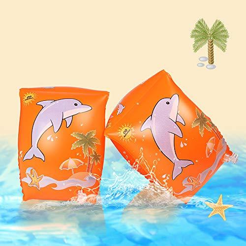 Schwimmflügel, infinitoo Schwimmhilfe, Schwimmreifen Schwimmen Armbands für Kinder und Kleinkinder ab 3 Jahre, 15-30kg, Schwimmscheiben mit Delphin Design für Schwimmbad, Pool, Strand etc