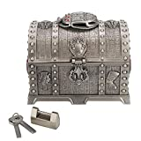 Cofre del Tesoro de Estilo Egipcio, Caja de Almacenamiento de joyería Vintage, Organizador de Collar de Anillo Delicado con Cerradura