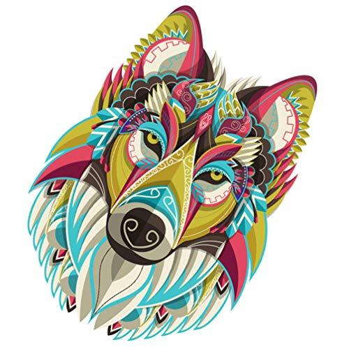 STOBOK Quebra-Cabeça Lobo Quebra-Cabeça Animal Padrão Estéreo Papel Quebra-Cabeça Brinquedo Quebra-Cabeça Irregular para Criança Adulta