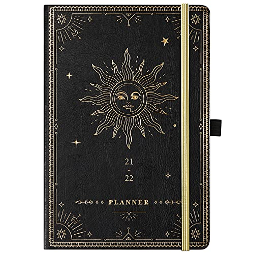 2021-2022 Planner - Academic Weekly Monthly Planner, 5.75' x 8.25', July 2021 - June 2022, Soft Faux Leather with Thick Paper, Pen Loop, Back Pocket...