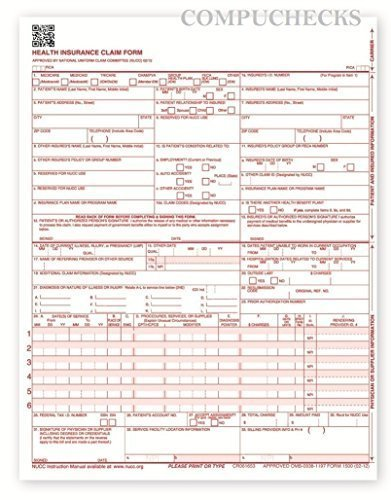 New CMS 1500 Claim Forms - HCFA (Version 02/12) (500 Sheets) Photo #3
