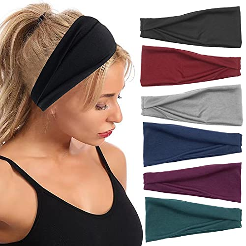Diademas para mujer, 6 bandas elásticas para yoga, correr, entrenamiento, diseño boho, para la cabeza, antideslizantes, para niñas, accesorios para el cabello