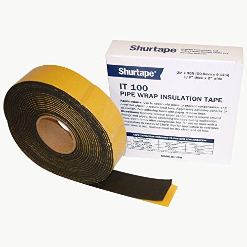 Shurtape IT-100 Foam Pipe Wrap Insulation Tape: 2 in. x 30 ft. (Black)