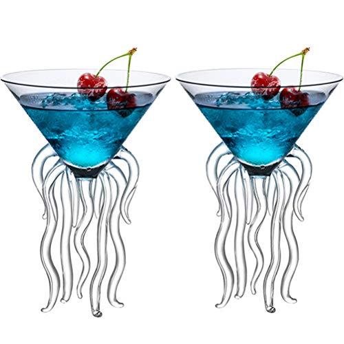 Octopus Cocktail Glass Creative Drinkware Bar Goblet Tools Snifters (Huge 2 Transparent)