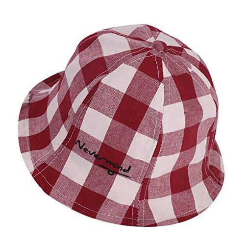GenericBrands Sombrero de Cubo a Cuadros Gorra de Lavabo Sombrero de Sol de cuadrícula de tartán Vintage Sombrero de Pescador para niños Niñas Niños 2-6 años