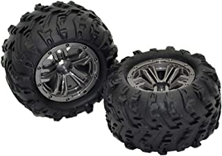 LoveinDIY 1/20 RC Wheels & Tires RC Racing Car Spare Parts for Monster Truck XLH 9145, Set of 2