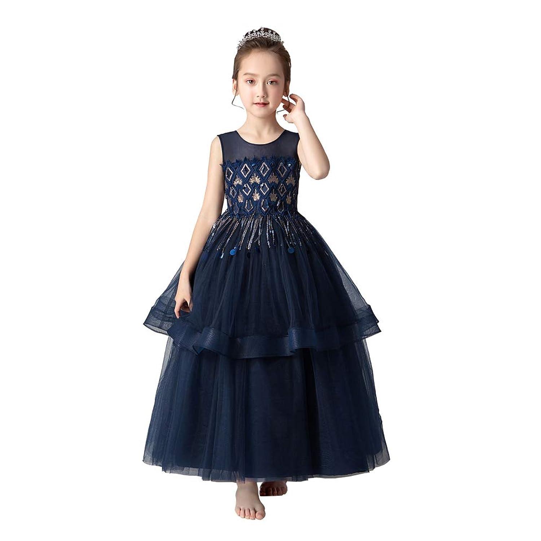 フリースキー(FREESky)子供ドレス 発表会 ピアノ 女の子 入学式 撮影用 結婚式 司会者 演奏会 子ども服 パーティードレス フォーマルドレ