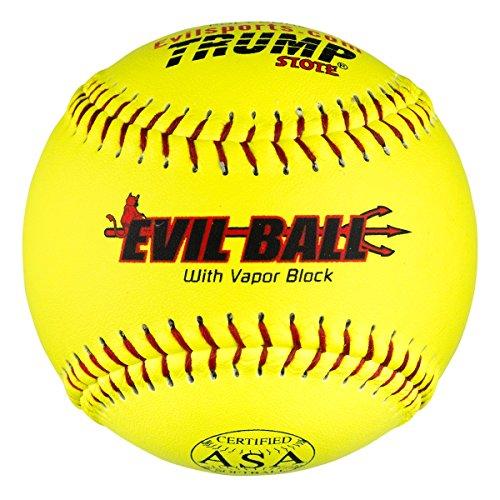 "1 Dozen Evil Ball ASA 12"" Softballs - 44cor/.375 Compression (MP-Evil-ASA-Y-2) HOT Technology"