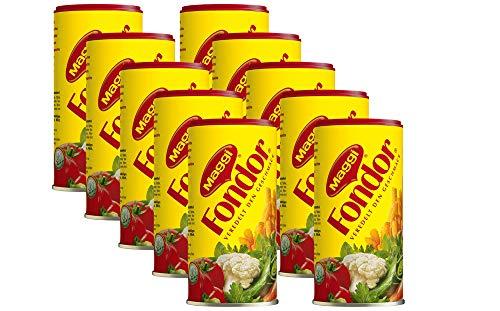 MAGGI Fondor (Würzmittel für Gemüse, Fleisch oder Fisch, Gewürz für Suppen oder Salate) 10er Pack (10 x 200 g)
