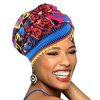 Easy Wearing African Head Wrap,Long Scarf Turban Shawl Hair Bohemian Headwrap