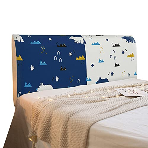 WHBDJ Cubierta de cabecera para habitación de niños, con dibujos animados, elástica, para cabecera de cama, protector de cabecera, decoración del hogar, 05, 180 cm de ancho x 50,65 cm de alto