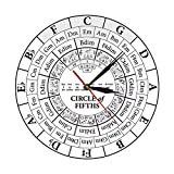 kyman Círculo de quintos Stave Músico Compositor Regalo Música Enseñanza Moderno Colgante Reloj...