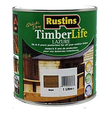 Foto di Rustins TLWA1000 - Vernice protettiva per legno da esterni, 1 l, colore: Noce