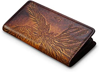 Andantannerie Leather Phone case Compatible with Note 9, Handmade Leather flip Phone case (n9 2622)