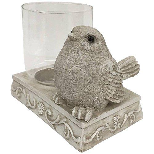 CHIN_DE_CAM Kandelaar, windlicht, vogel voor kaarsen, vlak, 12 cm