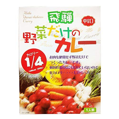 飛騨 野菜だけのカレー 中辛口 200g×5箱 天領食品 低カロリー お肉を使用せず国産の野菜だけで作ったカレー