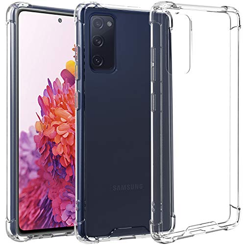 Restoo Samsung Galaxy S20 FE Case,Clear Case with 4 [Shock-Absorption] Corners Hard PC Back Soft TPU Bumper for Samsung Galaxy S20 FE 5G,Clear
