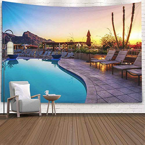 Douecish Wall Tapestry Hanging, Resort Pool Bedroom Living Room Decor Wall Hanging Tapestry 60X50 Inches