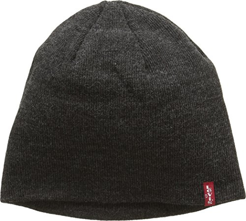 Levi's Otis Beanie, Gorro de punto Unisex adulto, Gris (Dark Grey), Medium...