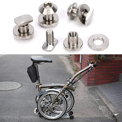Annjom Folding Bike Brake Bolt, Foldable High Strength Durable Brake Bolt for Bicycle Fitting Kit for Modified Accessory for Brompton Folding Bike for Cycling Lover