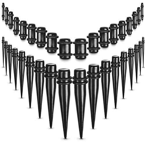 RODPLED 36 Kit Dilatador de Lóbulo de Oreja 1,6 mm-10 mm, Dilatadores y Dilatadores de Oreja, Juego de Ensanchador de Oreja, Varillas de Expansión de Oreja, Perforación Cónica de Oreja