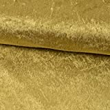 Pannesamt Stoff Uni Gold Meterware - Preis Gilt für 0,5