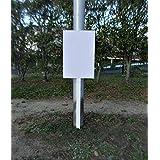 シンプル立札看板 白無地 屋外可 (板 約H45.5xW30cm) 全長1m柄付 立て札