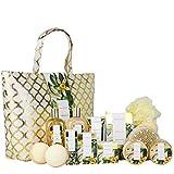Spa Luxetique Coffret de Bain et de Soins, 15 Pièces, Parfum de Vanille, Coffret Cadeau pour Femme, Lotion pour le Corps, Cadeau de Noël et d'Anniversaire