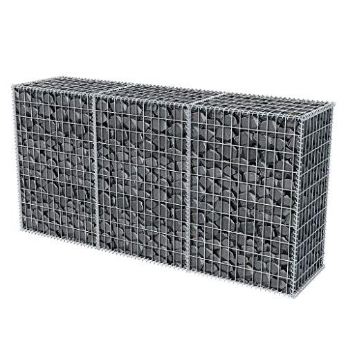 Gabione 200 x 50 x 100 cm befüllbarer Steinkorb Steinzaun Sichtschutz Lärmschutz Maschenweite - Gartenzaun Wand Mauer Spiral Gabionen