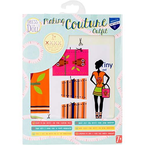 Vervaco PN-0164631 Kit de création de tenue de couture, Assortie, Convient à toute poupée de mode de 29 cm