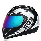 Bluetooth Casco Para Motocicleta Full Face,integral Para Parasol y Antivaho Casco Profesional Para Todoterreno Con Micrófono Incorporado,certificación ECE H,XL