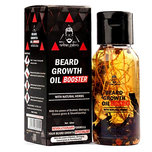 Urbangabru Beard Growth Oil Booster Enriched with Natural Herbs (Beard Booster Oil) 60 ml