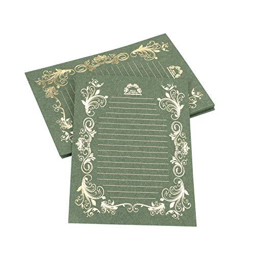 レターセット 40枚 お礼状 便箋 花柄 アンティーク レターセット おしゃれ かわいい 結婚 メッセージカード 手紙 シンプル レトロ 美しい
