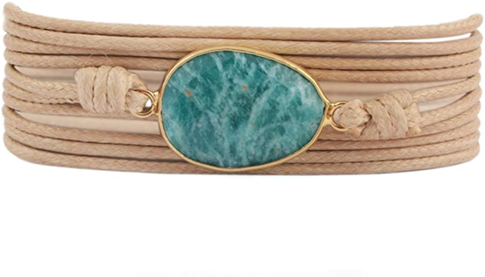 ZENGORI 1Pcs Multi-Layer price Wrap Bracelet B Soldering - Waxed Handmade Thread
