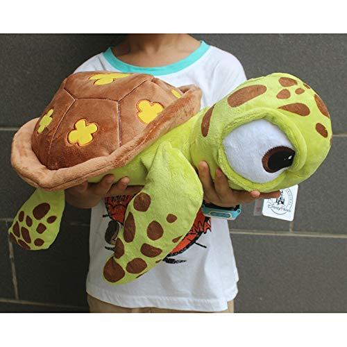 Meijin Buscando a Nemo Tortugas Marinas aplastadas de peluche juguetes de peluche de dibujos animados, juguetes de peluche de 40 cm, juguetes para niños (color: marrón)