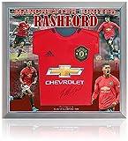 Marcus Rashford MBE - Camiseta firmada a mano del Manchester United