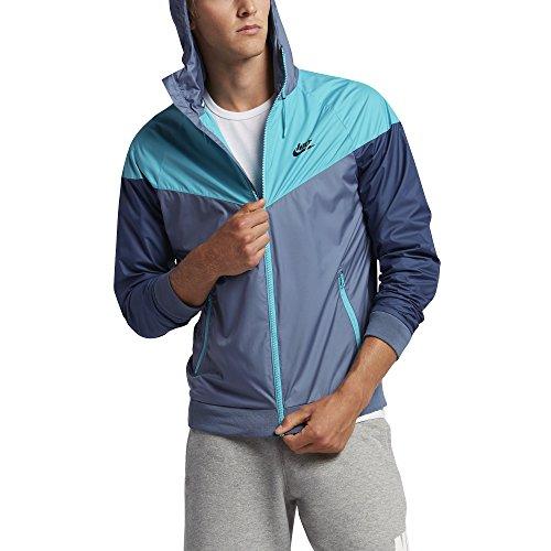 Nike Mens Windrunner Hooded Track Jacket Ocean Fog/Omega Blue 727324-404 Size Large
