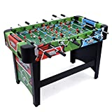 JUMPSTAR SPORTS 4ft Free Standing Football Table, Indoor Fussball Soccer Game, Cool Stadium Graphics, Kids Family Games Room Fun