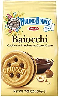 Mulino Bianco Baiocchi Shortbread Sandwich Cookies With Chocolate Hazelnut Cream Filling 3 Pack, chocolate,hazelnut, 21.15 Oz