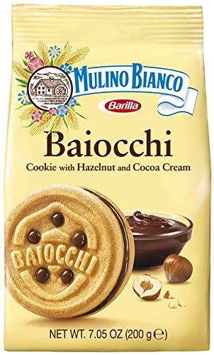 Mulino Bianco Baiocchi Shortbread Sandwich Cookies With Chocolate Hazelnut Cream Filling 3 Pack, chocolate,hazelnut, 21.15 Oz