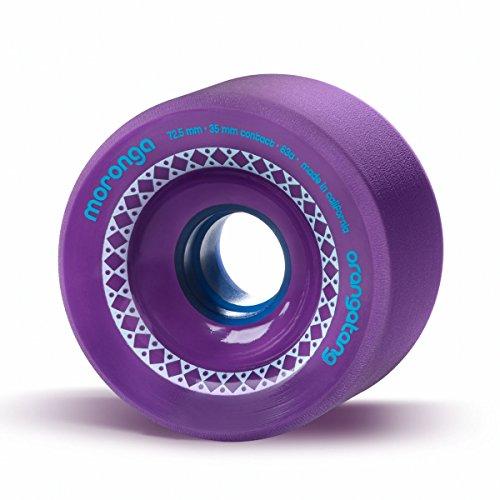 Orangatang Moronga 72.5 mm 83a Freeride Longboard Skateboard Wheels (Purple, Set of 4)