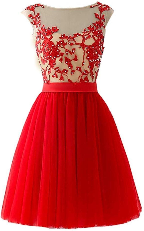 MARSEN Women's High Neck Bead Two Piece Prom Dress Short Satin Homecoming Dress