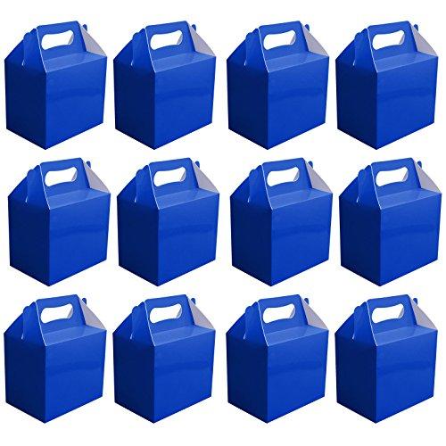 VALEUR PACK 12 x Couleur Au Choix Carton déjeuné / Going Maison Présent / Pique-nique Boîtes - Bleu