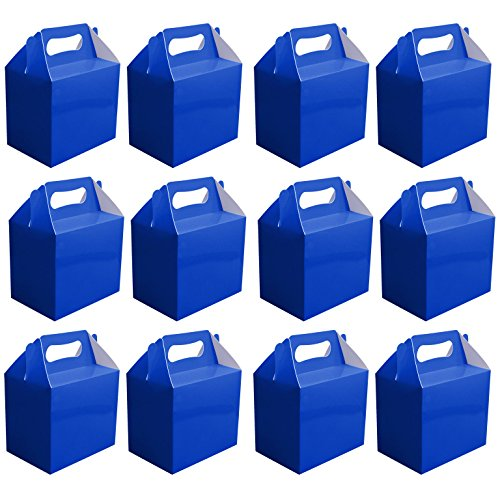 VALUE PACK 12 x Choose Your Colour Paper Lunch / Going Home Present / Picnic Boxes (Blue) by My Planet