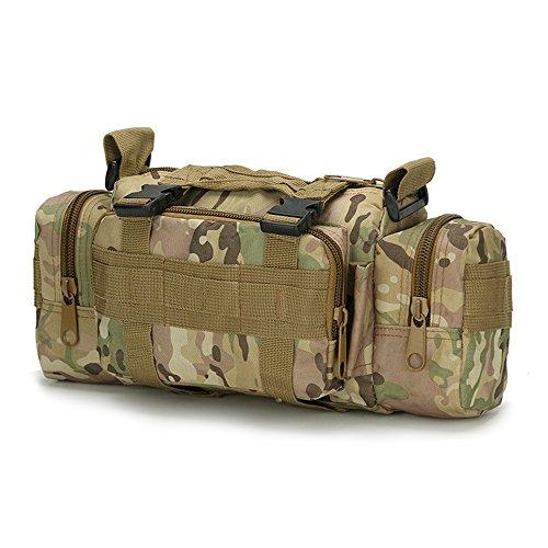 Nykkola 3P tactique militaire Taille Sac à bandoulière Sac à dos Sac de déploiement polyvalent Molle Banane à la main de transport Camping Sac à dos Camera Bag étanche, 9